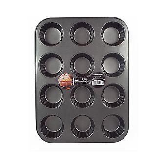 12 Cup Muffin Tray Baking Cupcakes Non Stick Coated Tray Easy to Use & Clean