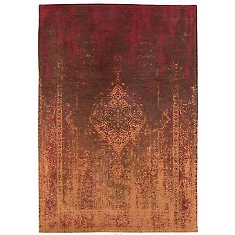 Distressed Mango Brown Medallion Flatweave Rug 170 x 240 - Louis de Poortere