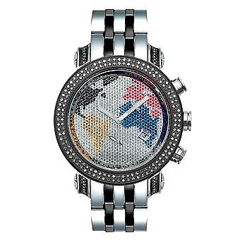 Joe Rodeo diamond men's watch - CLASSIC black 1.75 ctw