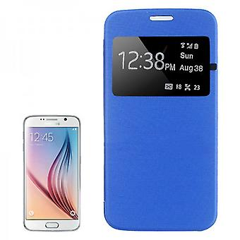 Slimme cover venster blauw voor Samsung Galaxy S6 G920 G920F