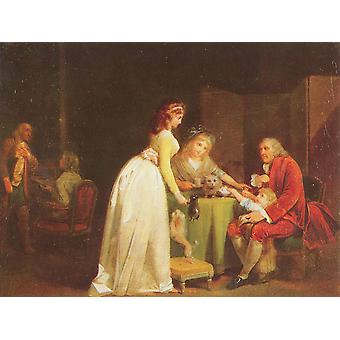 Louis Leopold Boilly - Pets and Tea Poster Print Giclee