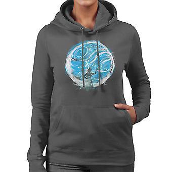 Vatten Tribe Avatar den sista Airbender Women's Hooded Sweatshirt