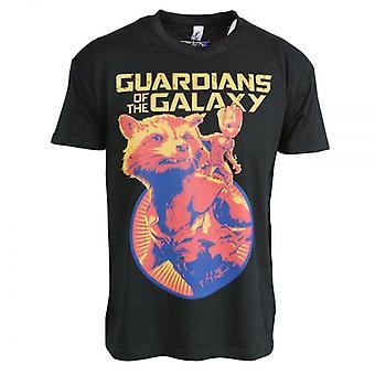 Vogtere af Galaxy vogtere af Galaxy Vol. 2 raket og Groot T Shirt sort