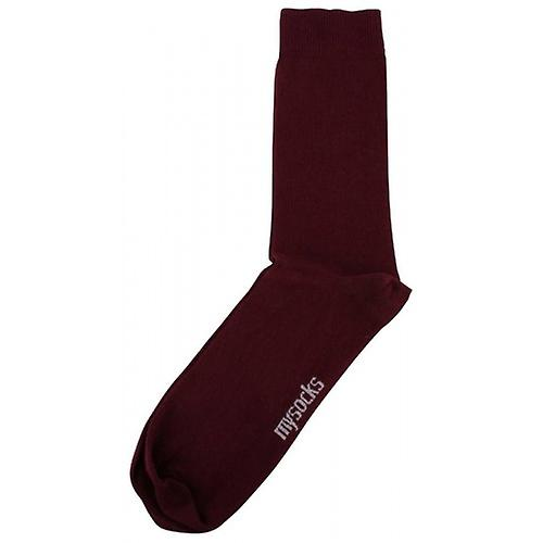 MySocks Plain Socks - Burgundy