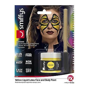Make up and eyelashes  Professional latex makeup yellow