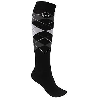 QHP Check Socks Midnight (Horses , Rider equipment , Clothes , Socks)