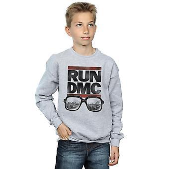 Run DMC Boys Logo Glasses Sweatshirt