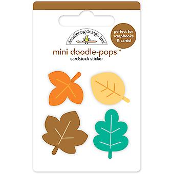 Doodlebug Doodle-Pops 3D Stickers-Flea Market Mini Autumn Leaves FMKT5334