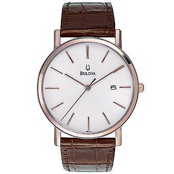Bulova Brown Leather Mens Watch 98H51