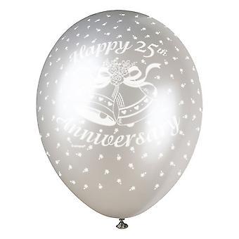 Unique Party 12 Inch 25th Anniversary Latex Balloon