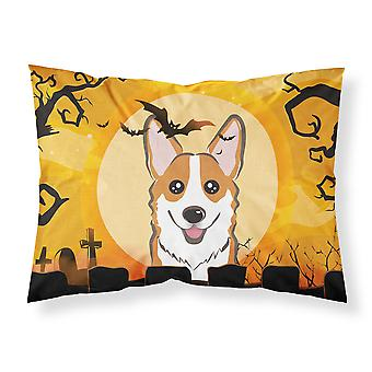 Halloween Red Corgi Fabric Standard Pillowcase
