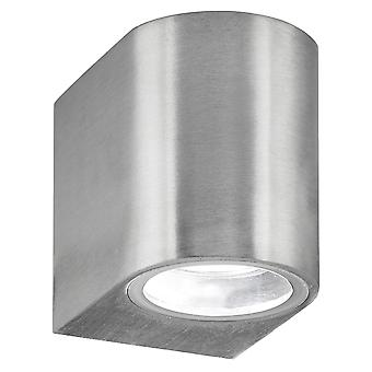 Searchlight 8008-1SS-LED One Light Outdoor Wall Light With Fixed Glass In Stainless Steel