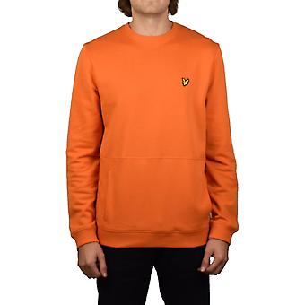Lyle & Scott Front Pocket Sweatshirt (Fox Orange)