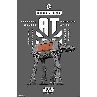Star Wars Rogue uno - Banner Poster cartel imprimir por