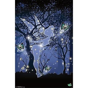 Tinker Bell - Silhouette Poster Print