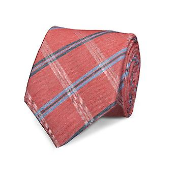 Marcell Sanders men's classic tie red striped Silk Wool