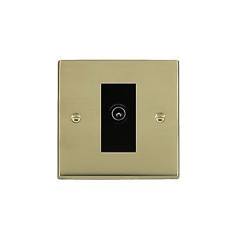 Hamilton Litestat Cheriton Victorian Polished Brass 1g Non-Isolated TV (Male)BL