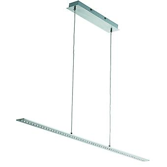 Satin Silver Led Bar Light Ceiling Pendant - Searchlight 2065ss