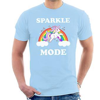 T-shirt uomo unicorno scintilla modalità