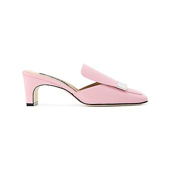 Sergio Rossi women's A78000MNAN075850 pink leather heel shoes