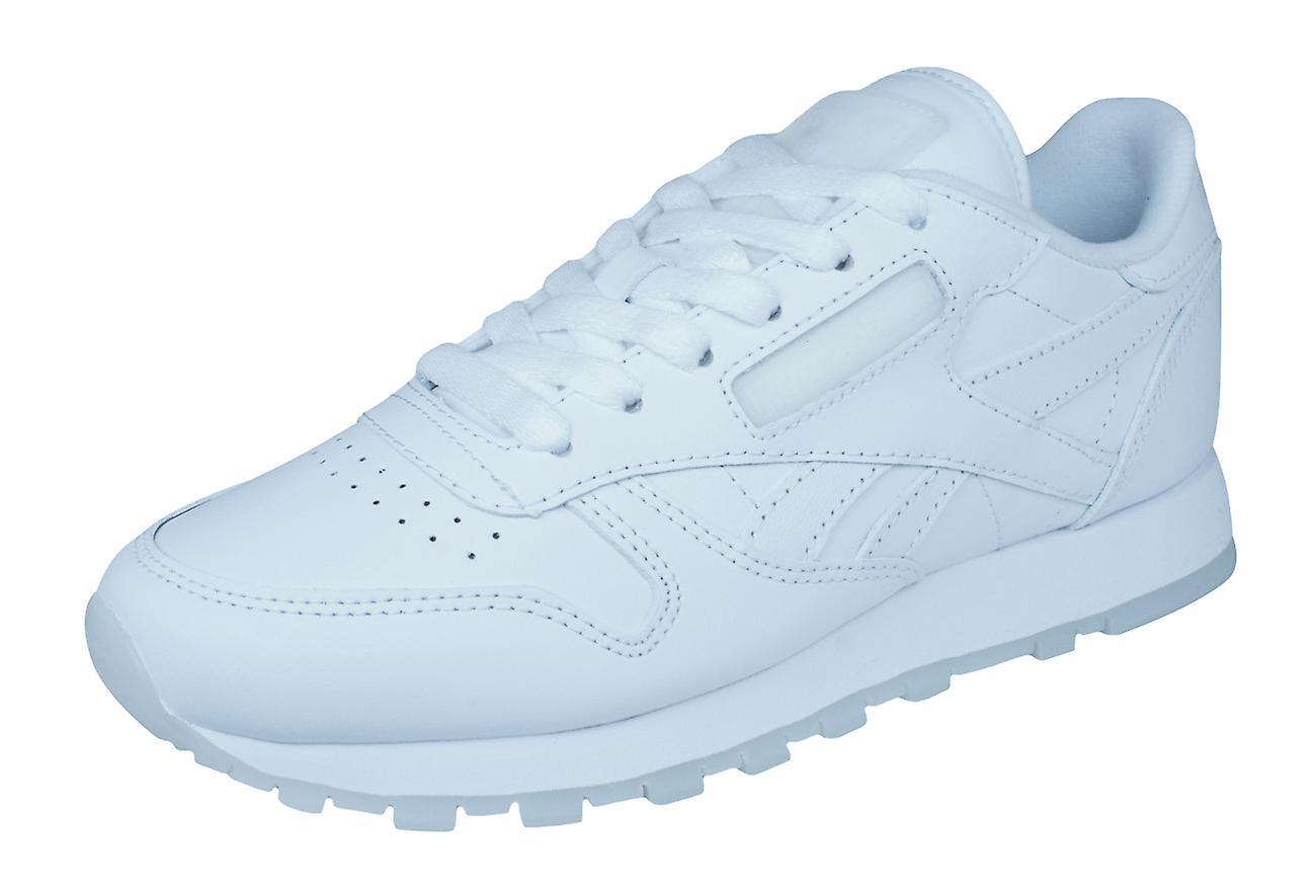 Reebok Classic Leather solides Mens formateurs   chaussures - blanc