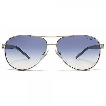 Ralph By Ralph Lauren Pilot Sunglasses In Light Silver Blue