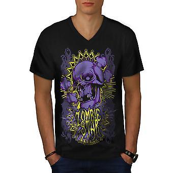 Sterne-Horror Tod Männer BlackV-Neck T-shirt   Wellcoda