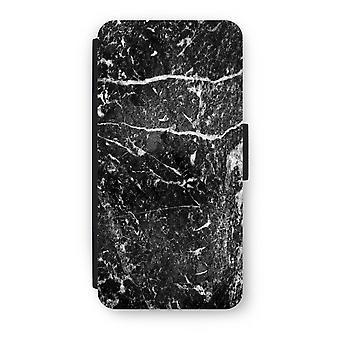 iPhone 6/6S Plus Flip Case - marmo nero