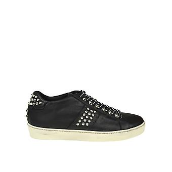 Leather Crown women's WICONIC14 black leather of sneakers