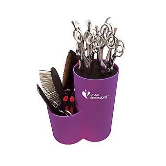 Groom Professional Scissor & Storage Cylinder Vivid Purple