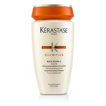 Kerastase Nutritive Bain Satin 2 Exceptional Nutrition Shampoo (For Dry Sensitised Hair) - 250ml/8.5oz