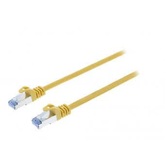 ValueLine CAT6a S/FTP network cable RJ45 (8P8C) male to RJ45 (8P8C) Male 2.00 m Yellow
