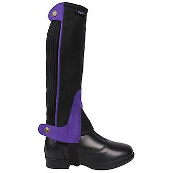 QHP Suede Chaps Lila (Horses , Rider equipment , Clothes , Leggings and chaps)