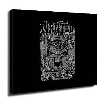 Wanted scheletro teschio parete arte tela 50 x 30 cm | Wellcoda