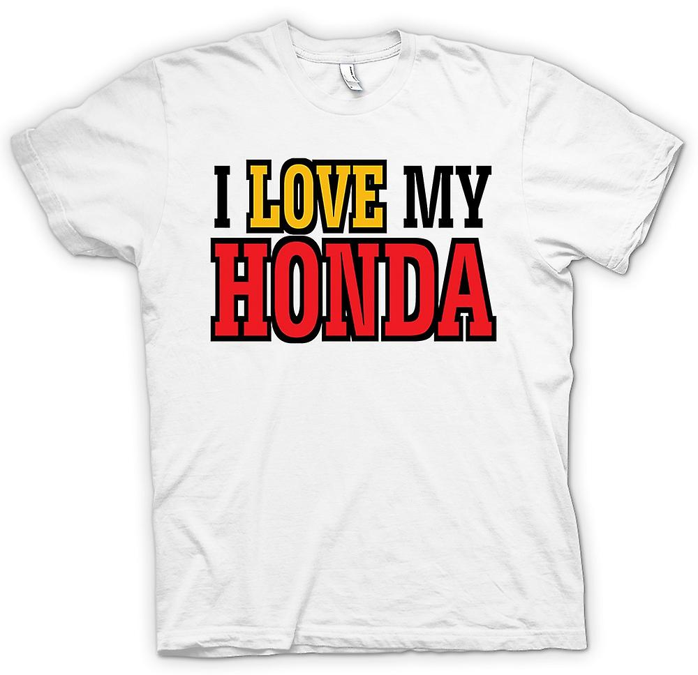 Womens T-shirt - I Love My Honda - Car Enthusiast