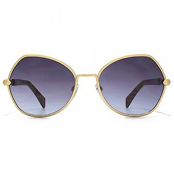 Just Cavalli Vintage Stud Sunglasses In Matte Gold