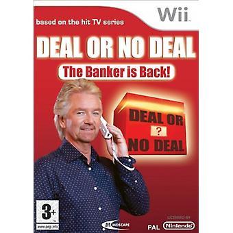 Affaire ou aucune affaire le banquier est de retour (Wii)