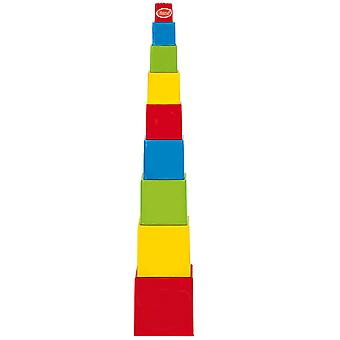 Gowi Toys Educational Square Pyramid Stacking Stacker Play Set Toy