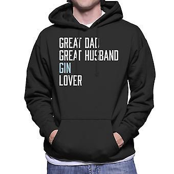 Great Dad Great Husband Gin Lover Men's Hooded Sweatshirt