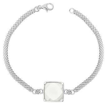Orphelia Silver 925 Bracelet 15Cm Square White Zirconium  ZA-7101