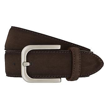 BRAX belts men's belts leather belt suede Brown 4685