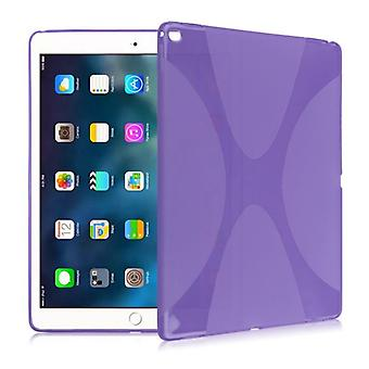 Protective cover silicone X-line series purple case cover for new Apple iPad 9.7 2017 bag
