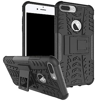 NEX style hybrid case 2 piece outdoor black for Apple iPhone 8 plus and 7 plus 5.5 inch case sleeve cover protection