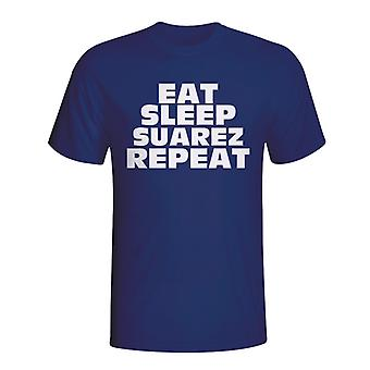Eat Sleep Suarez Repeat T-shirt (navy)