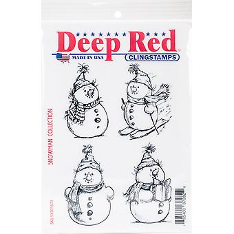 Deep Red Cling Stamp 4