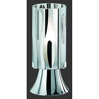 الثلاثي إضاءة مصباح طاولة معدنية كروم الحديثة أنبوب