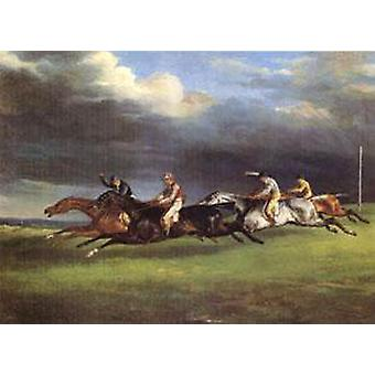 The Derby at Epsom in 1821, Theodore Gericault, 50x40cm