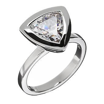 Orphelia Silver 925 Ring Triangle Clear  Zirconium   ZR-3652