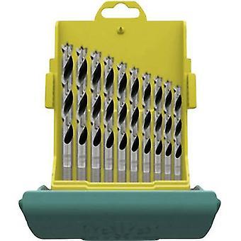 Wood twist drill bit set 10-piece Heller 28708 1 Cylinder shank 1 Set
