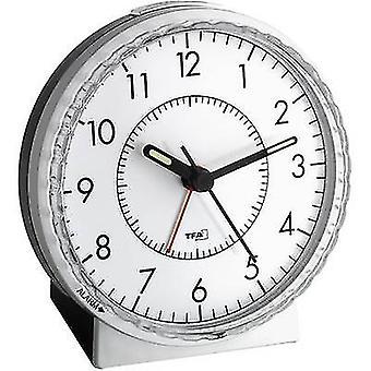 TFA 60.1010 Quartz Alarm clock Silver Alarm times 1 Fluorescent Hands
